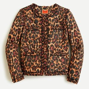 J. Crew Leopard Quilted Lady Jacket